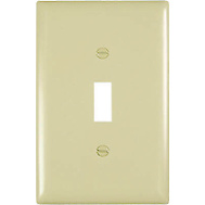 Pass & Seymour TPJ1ICC70 Ivory 1 Gang 1 Toggle Opening Nylon Wall Plate