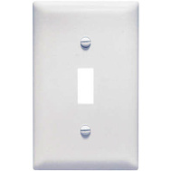 Pass & Seymour TPJ1WCC70 White 1 Gang 1 Toggle Opening Nylon Wall Plate
