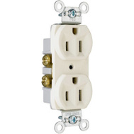 Pass & Seymour CR15LACC12 15 Amp Almond Heavy Duty Duplex Outlet