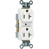 Pass & Seymour CR20ICC12 20 Amp Ivory Heavy Duty Duplex Outlet