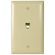 Pass & Seymour TPTE1ICC12 Ivory 1 Gang Rj 11 Wall Plate