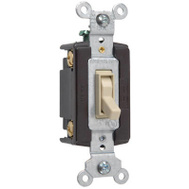 Pass & Seymour 664IGCC10 15 Amp Ivory Grounded Standard 4 Way Toggle Switch