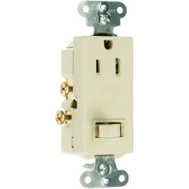 Pass & Seymour 681ICC6 15 Amp Ivory Switch/Outlet