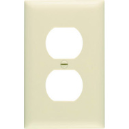 Pass & Seymour SP8IUCC100 Ivory 1 Gang 1 Duplex Outlet Opening Urea Wall Plate