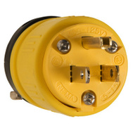 Pass & Seymour 1447 15A 125 Volt Dust Tight Rubber Plug Yellow