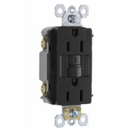 Pass & Seymour 1597BKCC10 15 Amp Self Test GFCI With Wallplate Black