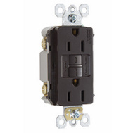 Pass & Seymour 1597CC10 15 Amp Self Test GFCI With Wallplate Brown