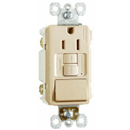 Pass & Seymour 1597SWTTRICC4 15 Amp Switch & Self Testing GFCI Ivory