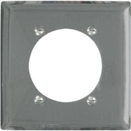 Pass & Seymour S3863C 2 Gang 2.49 Inch Round Opening Chrome Metal Wall Plate