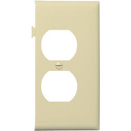 Pass & Seymour PJSE8I Ivory Duplex Outlet Opening End Section Sectional Nylon Wall Plate
