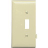 Pass & Seymour PJSE1I Ivory Toggle Opening End Section Sectional Nylon Wall Plate