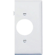 Pass & Seymour PJSE7W White Single Outlet Opening End Section Sectional Nylon Wall Plate