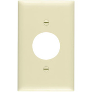 Pass & Seymour SP7IU Ivory 1 Gang Single Outlet Opening Urea Wall Plate