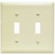 Pass & Seymour SPO2IU Ivory 2 Gang Toggle Oversize Wall Plate