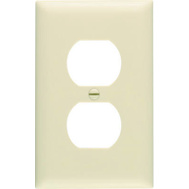 Pass & Seymour SPO8IU Ivory 1 Gang 1 Duplex Outlet Opening Oversize Wall Plate