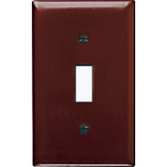 Pass & Seymour SP1U Brown 1 Gang 1 Toggle Opening Urea Wall Plate