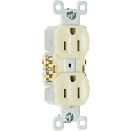 Pass & Seymour 3232ITU 15 Amp 125 Volt Ivory 2 Pole 3 Wire Grounding Standard Duplex Outlet
