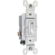 Pass & Seymour 663WGTU 15 Amp 120 Volt White Grounded Standard 3 Way Toggle Switch