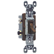 Pass & Seymour 663GTU Brown Grounded Standard 3 Way Toggle Switch