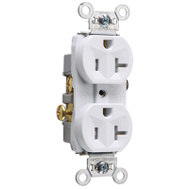 Pass & Seymour TR20WCC8 20A WHT Tamp Receptacle