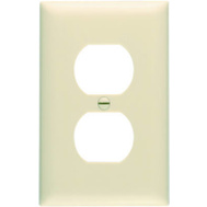 Pass & Seymour TP8ICP10 10 Pack Ivory 1 Gang 1 Duplex Outlet Opening Nylon Wall Plate