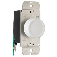 Pass & Seymour 90611WV 600W, White, Single Pole Rotary Dimmer