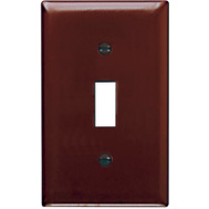 Pass & Seymour TP1CC15 Brown 1 Gang 1 Toggle Opening Nylon Wall Plate