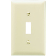Pass & Seymour TP1ICC100 Ivory 1 Gang 1 Toggle Opening Nylon Wall Plate