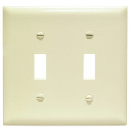 Pass & Seymour TP2ICC30 Ivory 2 Gang 2 Toggle Wall Plate