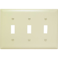 Pass & Seymour TP3ICC12 3 Gang 3 Toggle Openings Nylon Wall Plate