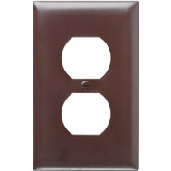 Pass & Seymour TP8CC25 Brown 1 Gang 1 Duplex Outlet Opening Nylon Wall Plate