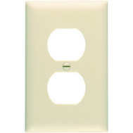 Pass & Seymour TP8ICC100 Ivory 1 Gang 1 Duplex Outlet Opening Nylon Wall Plate