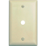 Pass & Seymour TP11ICC15 Ivory 1 Gang Telephone Hole Opening Nylon Wall Plate