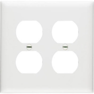 Pass & Seymour TP82WCC30 White 2 Gang 2 Duplex Outlet Wall Plate