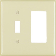 Pass & Seymour TP126ICC12 Ivory 2 Gang Toggle Decorator Plate