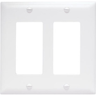 Pass & Seymour TP262WCC30 White 2 Gang 2 Decorator Openings Nylon Wall Plate