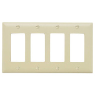 Pass & Seymour TP264ICC10 Ivory 4G 4 Deco Wall Plate
