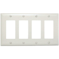 Pass & Seymour TP264WCC10 White 4G 4 Deco Wall Plate