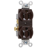 Pass & Seymour CR15CC 15 Amp Brown Heavy Duty Duplex Outlet