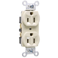 Pass & Seymour CRB5262ICC12 15 Amp 125 Volt Ivory 2 Pole 3 Wire Grounding Heavy Duty Duplex Outlet