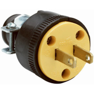 Pass & Seymour 111MCCC10 15 Amp 125 Volt Black Residential Grade 2 Wire Plug