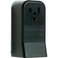 Pass & Seymour 3852CC6 50 Amp 250 Volt Black 2 Pole 3 Wire Grounding Surface Mount Power Outlet