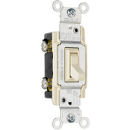 Pass & Seymour 663IGCACC10 15 Amp 120 Volt Ivory Grounded Copper/Aluminum 3 Way Toggle Switch