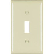 Pass & Seymour SP1IUCC100 Ivory 1 Gang 1 Toggle Opening Urea Wall Plate