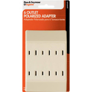 Pass & Seymour 1746ICCC4 15 Amp Ivory Polar 6 Out Tap