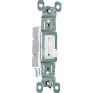 Pass & Seymour 660WGCP8 10 Pack 15 Amp 120 V White Grounded Standard Single Pole Toggle Switch