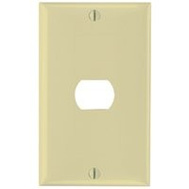 Pass & Seymour K1I Despard 1 Gang 1 Hole Wallplate Ivory