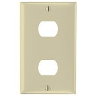 Pass & Seymour K2I Despard 1 Gang 2 Hole Wallplate Ivory