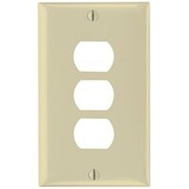 Pass & Seymour K3I Despard 1 Gang 3 Hole Wallplate Ivory