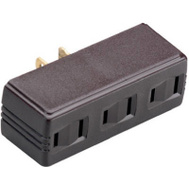 Pass & Seymour 63 15 Amp 125 Volt Brown 2 Pole Single To Triple Plug In Adapter
